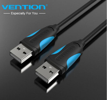 High Speed USB 2.0 Data Transfer Cable Standard Male To Male Plug and Play USB Cable male to male Computer Connector Cables(China)