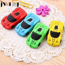 1 pcs JWHCJ Novelty 3D small car rubber eraser kawaii creative stationery school office supplies gifts for kids boy toy(China)