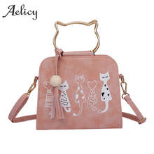 Aelicy Animal Messenger Bag Women Handbags Cat Rabbit Patter Pattern Shoulder Crossbody Bag Luxury Handbags Women Bags Designer(China)