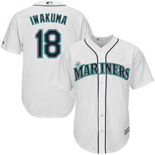 MLB Men's Seattle Mariners Hisashi Iwakuma Baseball White Home Cool Base Player Jersey(China)
