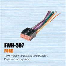 Car CD DVD Player Power Wire Cable Plug For Ford Lincoln Mercury 1998-2012 Plugs Into Factory Radio / DIN ISO Female