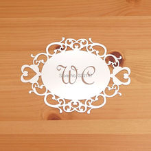 Advertising Logo Stickers Door Sign Oval Shape With Lace Art Carving Acrylic Mirror Indicator Private Custom Gift(China)