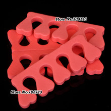 1lot= 100pcs DIY Nail Design Tool Sponge Foam Finger Toe Separator Nail Art Salon Tool Heart Shape Random color