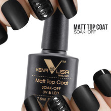VENALISA Matte Top Coat CANNI Nail Art Design 61507 High UV LED 7.5ML Base Coat, No Sticky Layer Top Coat, Soak off Matt Topcoat