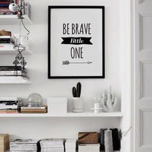 Be Brave Little One Nursery Quote Canvas Art Print Painting Poster Living Room Kids Room Coffee Shop Wall Picture No Frame