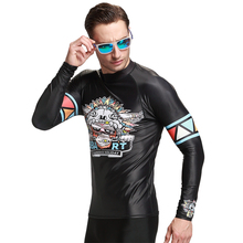 SBART Men Compression MMA Rashguard Fitness Long Sleeve Swim upf Shirts Base Layer Skin Tight Weight Lifting Training L-XXXL N