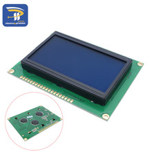 LCD Board 12864 128X64 5V blue screen display ST7920 LCD module for arduino 100% new original(China)