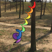 1Pc Bunting Color Spiral Windmill Courtyard Kindergarten Festive Christmas Decoration Outdoor Picnic Party Flags Banner K2