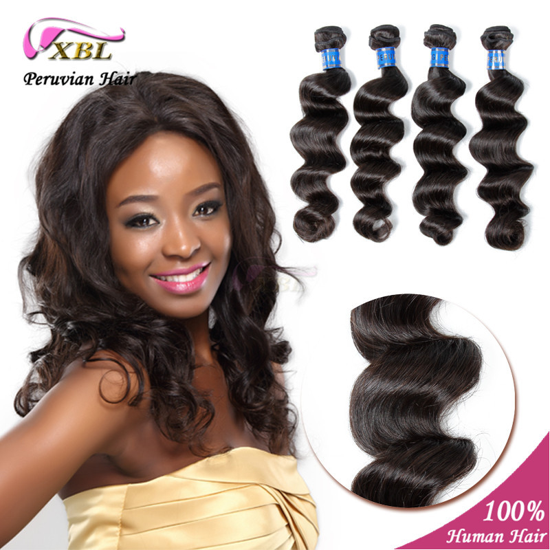 human hair extensions Natural Color Peruvian Virgin Hair Loose Wave Hair weft 4 pcs/lot 8 to 24 In Stock XBL hair product<br><br>Aliexpress