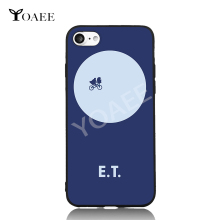 E.T Flying Through Moon Fun Art For iPhone 6 6s 7 Plus Case TPU Phone Cases Cover Mobile Protection Decor Gift