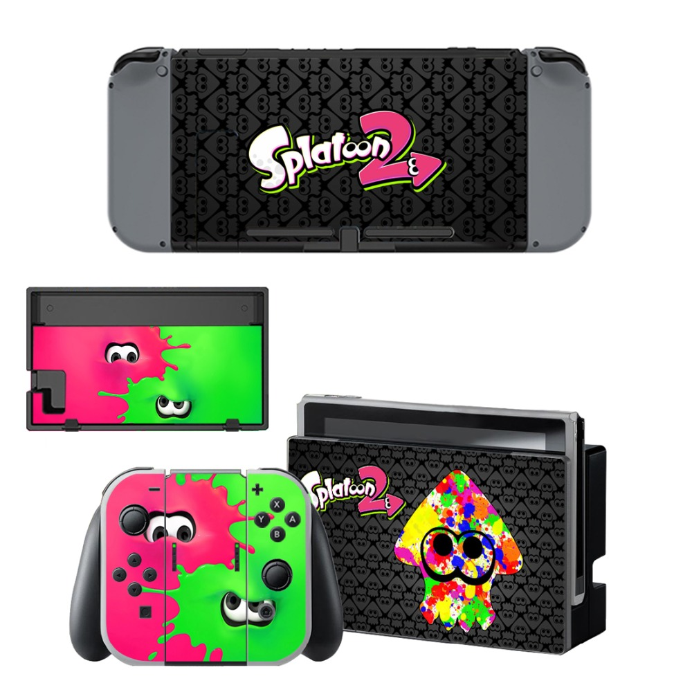 Skins Stickers Splatoon Nintend-Switch Controllers Console Game Vinyl for Joy-Con And title=