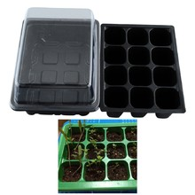 New 12 Cells Hole Nursery Pots Plant Seeds Grow Box Tray Insert Propagation Seeding Case Flower pot plug plant trays