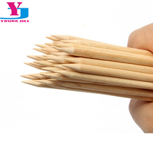20pcs/lot High Quality Wood Stick For Nail Art Brand Orange Wooden Sticks Cuticle Pusher Pedicure Manicure Beauty Sticker Tools