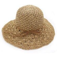Lady Moda Ampla Grande chapéu da Borda das mulheres Chapéus de Sol da  Primavera Verão Dobrável Chapéu De Palha Mulheres Cap Prai. ee9c89aebc4