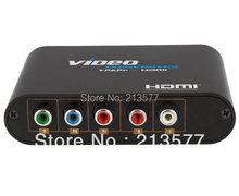 1080P Component Video (YPbPr) to HDMI converter box, Support PSP, PS2, Wii, XBOX, STB, DVD, Player, Projector, etc.(China)