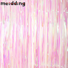MEIDDING 4Style Shiny Rainbow Color Metallic Foil Fringe Rain Curtains Decor Wedding Decor Photography Background Party Supplies