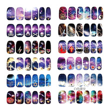 12 Designs Nail Stickers Wholesale 3D Star Post Crown Lips Butterfly Korea Nail Nails All 16 Posts