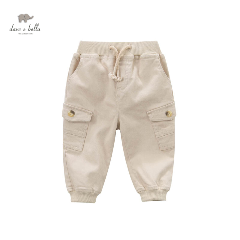 DB4602 dave bella spring latest baby boys casual beige pants fashion trousers <br><br>Aliexpress