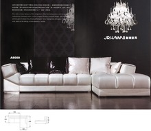 Top quality good design living room sofa set genuine leather sofa set 8058