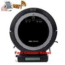 Smartphone WIFI APP Robot Vacuum Cleaner Smart Sweeping Rechargeable Remote Control with 150ml Water tank(China)