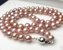 Natural 8-9mm pink freshwater culture pearl necklace 17inch approx round beads jewelry making weddings bride chain gfits YE2097m(China)
