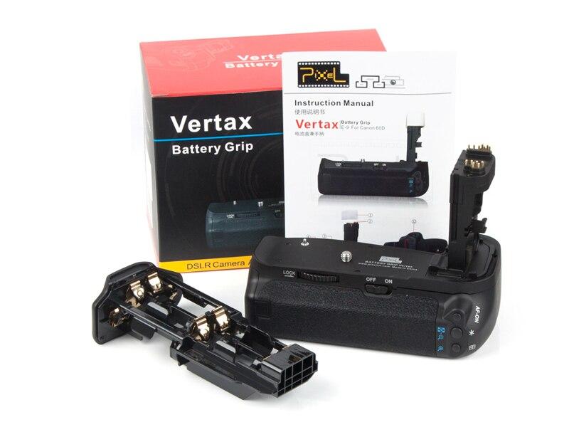 Battery Grip Pack For Canon 60D Battery Grip pixel Vertax E9<br><br>Aliexpress