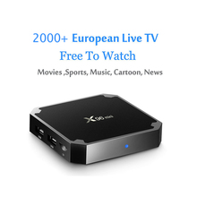 Europe IPTV Box Support French Arabic Italy Spain UK Channels X96 Mini S905W Quad Core Android TV Box 4K H.265 HD Media Player