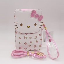 2017 news hello kitty bag women wallets High quality coin purses holders can put two phone together(China)