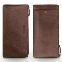 QIALINO for Huawei P 10 Plus Leather Cases Litchi Grain Leather Wallet Pouch Cover for Huawei P10 Plus - Brown