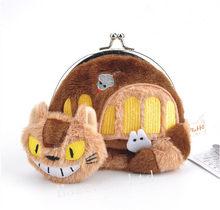 Studio Ghibli My Neighbor Totoro Cat Bus Plush Coin Purse Bag(China)