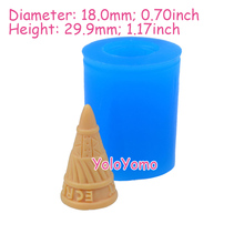 X155YL 29.9mm 3D Ice Cream Cone Silicone Mold - for Fondant, Dessert, Gum Paste, Cookie Biscuit, Icing, Food Safe, Resin Clay