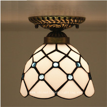Tiffany ceiling lamp ,European style Baroque,Med ,Bohemia surface mounted tiffany light ,16cm lobby decoration TFC-005-16CM