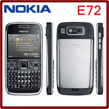 Original Nokia E72 Mobile Phone 3G Wifi 5MP Unlocked Refurbished Cellphone English Russian Arabic keyboard  One year warranty