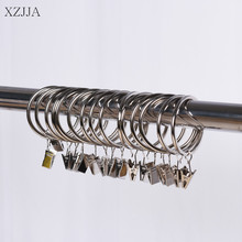 XZJJA 5Set Curtain Tracks And Clips Window Shower Curtain Rings Hanging Clamp Drapery Hooks Curtain Decorative Accessories(China)