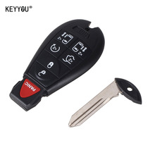 KEYYOU 7 Buttons Spare Remote Case Blank Smart Key Shell Case For Chrysler Town & Country For Dodge Grand Caravan + Insert Blade