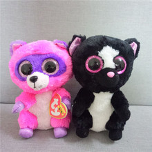 "Ty Beanie Boos Big Eyes 6"" Plush Black/White Skunk Unicorn Animal Toys juguetes brinquedos(China)"