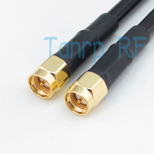 Freeshipping! 20inch SMA male plug to SMA male plug RF Pigtail jumper coaxial cable RG58 50cm