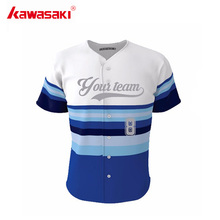 Kawasaki Brand Blue Stripes Custom Baseball Jersey Shirt for Men& Women Collage Hip Pop Style Kids Practice Softball Jerseys(China)