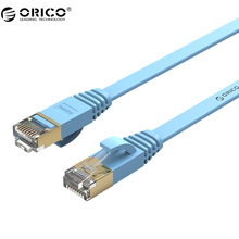 ORICO Cat7 Ethernet Cable RJ45 Cat 7 Flat Network Lan Cable RJ45 Patch Cord 1M/5M/10M/20M for PC Router Laptop Cable Ethernet