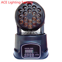 Fast Shipping 18x3w RGB CREE LED mini Moving Head Light Moving Head Wash Light For Event,Disco Party Nightclub