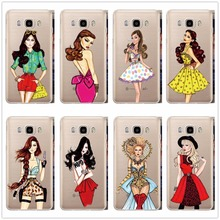 Fashion beautiful sexy girls Case cover transparent hard plastic shell to protect samsung Galaxy condom S3 S4 S5 S6 S7 edge(China)