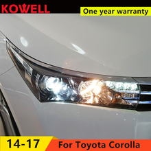KOWELL Car Styling for Toyota Corolla Headlights 2014-2016 Altis LED Headlight DRL Bi Xenon Lens High Low Beam Parking Fog Lamp(China)