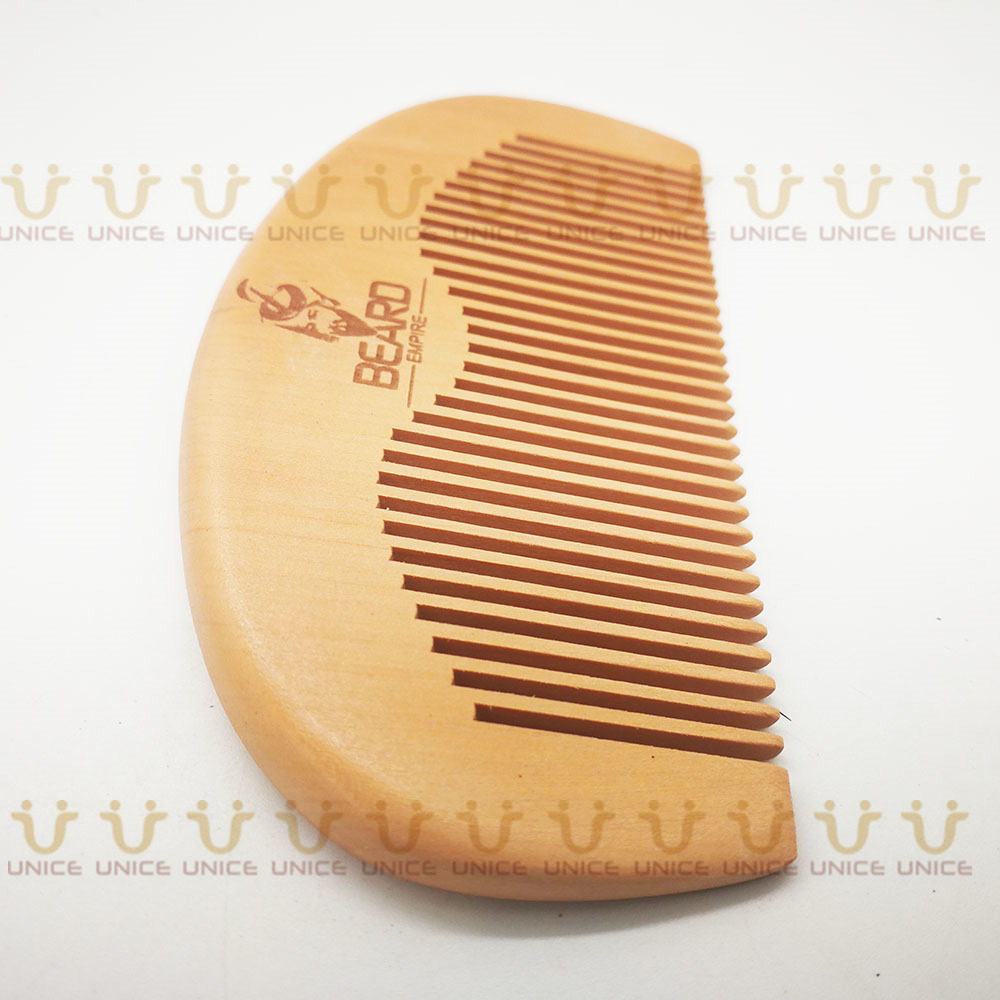 100pcs/lot Your LOGO Customized Private Label Combs Hair Beard Wood Comb for Men & Women for Barber Shop Retail Case 52