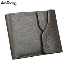 Baellerry Wallet men Luxury Solid Color Practical PU Leather Casual Men Vintage Wallets Design Short men Purses Card Holder