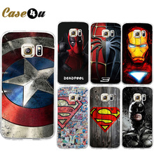 Marvel Superhero Avengers Superman Personalized Hard PC Plastic Cell Phone Case Cover for Samsung Galaxy S6 S7 S7EDGE Protector