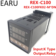 RKC REX-C100 REX-C100FK02-M*DN Digital PID Temperature Control Controller Thermostat Relay Output K Type Input AC110-240V(China)