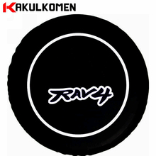 "27""-31"" Size Heavy-Duty PVC Leather Universal Spare Tire Cover For Toyota RAV4(China)"
