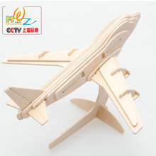 Free shipping Kids Traffic Tools 3D Wooden puzzle toy, Planes/ships/cars/tanks, toys for children, scale models(China)