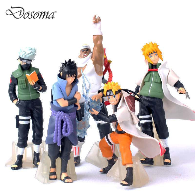 New Arrive 5 Pcs/set Naruto Action Figure Classic Toys Cool Naruto Kakashi Sasuke Uzumaki Figure Anime Model for Baby Kids Gift(China)