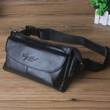 Cheer soul genuine Leather waist bag male bag middle age invisible purse mobile phone bag multifunctional leisure bag